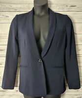 Madewell Womens Sz 8 Duskfall Navy Blue Blazer Jacket Top Suit Work Coat Lined