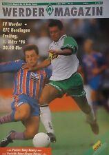 Programm 1995/96 SV Werder Bremen - KFC Uerdingen