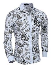 Men's Fashion Classic National Wind Casual Long-sleeved Shirt