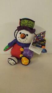 Britto Pop Plush Musical Snowman Christmas Let It Snow MWT