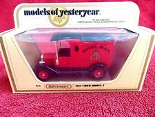 MATCHBOX  MODELS OF YESTERYEAR   Y-3  1912  FORD  MODEL T [ROYAL MAIL] 1978