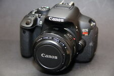 MINT Canon EOS Rebel T5i / 700D 18.0 MP SLR With 50mm F/1.8 (3 LENSES)