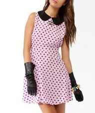 Hello Kitty Forever 21 Chococat Skater Dress Peter Pan Pink Novelty Small S