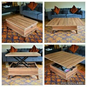MAGIC WALNUT EXTENDABLE COFFEE / DINING TABLE 6 IN 1