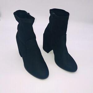Asos shoes faux suede Black Block heel Ankle boots eur 39 uk 6