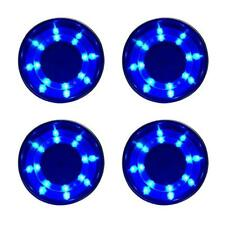 4X Boat Blue LED Cup Drink Holder Stand Mount Stainless Steel Marine Car Truck