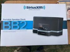 SiriusXM Satellite Radio Portable Speaker Dock BB2 and sirius xdnx1