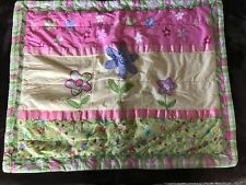 CIRCO PINK AND YELLOW FLOWERS QUILTED STANDARD PILLOW SHAM