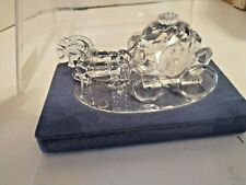 New Beautifully Unique Handmade Crystal Cinderella 2 Horse's Drawn Carriage