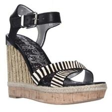 Buckle Wedge Medium Width (B, M) Multicoloured Sandals for Women