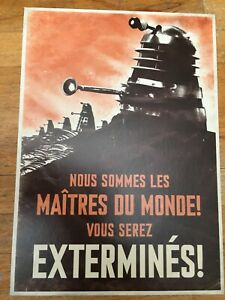 Dr Who Experience postcard French Daleks - MINT