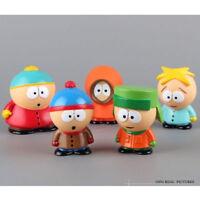 5pcs Characters South Park Action 6cm  PVC Figures Dolls in Box SET no box