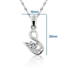 "Beautiful ""Swan"" 925 Sterling Silver Pendant #PE100880 valentine present"