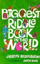 Biggest Riddle Book in the World, Rosenbloom, Joseph, 0806988843, Book, Good