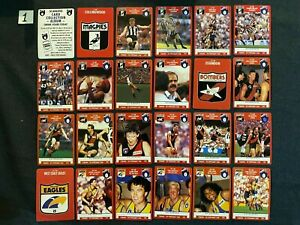 1991 AFL Stimorol Scanlens - Collectable Football Cards - Pick Your Missing Card