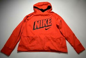 Nike Youth Red Long Raglan Sleeve Kangaroo Pocket Dri-Fit Pullover Hoodie XL