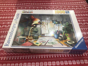 Ravensburger Disney Pixar The Artists Desk 1000 piece jigsaw puzzle19432 Sealed