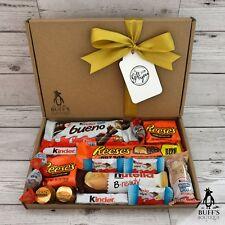 MEDIUM Kinder VS Reeses Candy Sweet Chocolate Hamper Gift Selection Treat Box