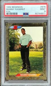 1992 Bowman #676 Manny Ramirez Foil RC PSA 9