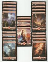 20X MOUNTAIN FULL ART basic land- Battle for Zendikar -MTG - Magic the Gathering