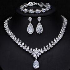 Women's Classical Bridal Wedding Made with Swarovski Crystals Teardrop Set XS11