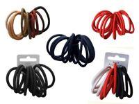 Pack of 10 Snag Free Endless Hair Elastics Bobbles Bands Various Colours