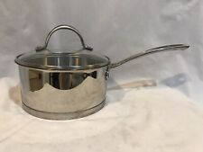 CUSINART 2 QUART  SAUCE PAN WITH LID STAINLESS STEEL HEAVY EUC