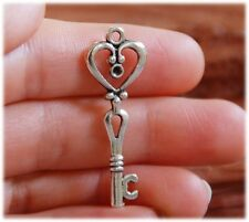 10 x Silver Color Skeleton Key Antique Old look Key keys Tibetan