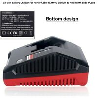 18V Battery Charger For Porter Cable PCXMVC Lithium & NiCd NiMh Slide PC18B GL
