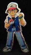04 Ash mit Pokéball - Pokémon Glitzeraufkleber - Aufkleber ca. 9 x 15,5 cm