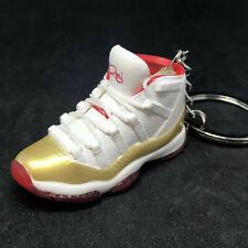best service bf603 5592d Air Jordan XI 11 Retro Ray Allen PE Gold Red Sneaker Shoe 3D Keychain 1