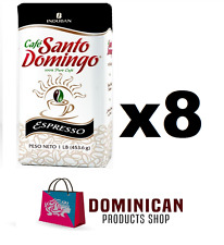 8 pound CAFE Santo Domingo ESPRESSO grounded best dominican coffee 100% EUROPE
