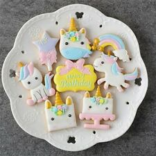 5Pcs/Set Unicorn DIY Cookie Biscuit Cutter Mold Cake Pastry Fondant Mould Stamps