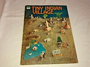 Whitman Tiny Indian Village Press Out Book 1972 Paper Doll Native American Uncut