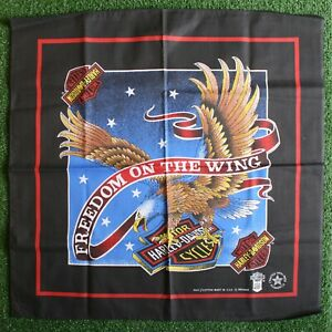 HARLEY DAVIDSON 'Freedom On The Wing' RN 16463 Hanky Bandanna - Made in USA