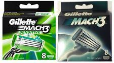GILLETTE MACH 3 und GILLETTE MACH 3 SENSITIVE RASIERKLINGEN MIX NEUWARE IN OVP