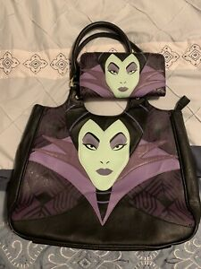 Loungefly Disney Maleficent Tote Bag/Purse and Wallet