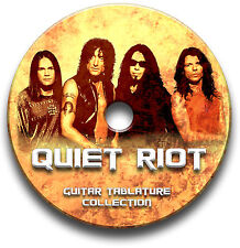 Quiet Riot GLAM Metal Rock Guitar Scheda tablature CANZONIERE libreria software CD