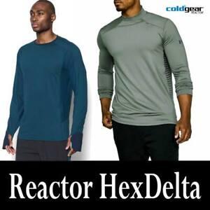"""MEN'S UNDER ARMOUR """"HEXDELTA"""" UA COLDGEAR REACTOR RUNNING SHIRTS 1298834 1298251"""