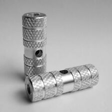 Silver Axle Foot Pegs For Fixed Gear BMX Bike Bicycle New York Stock 1 pair