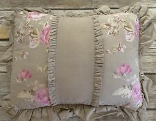 Simply Shabby Chic Floral Castle Ruffle Pillow Pink Beige 11 X 14 Rachel Ashwell