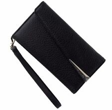 Case-Mate Leather Folio Wristlet Case Cover for iPhone 7 6s 6 - Black