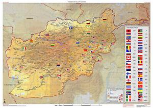 2009 Afghanistan Map ISAF RC PRT Locations Troop Strength NATO OTAN Military