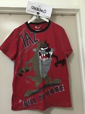 Teen's Warner Bros Looney Tunes Tasmanian Devil Graphic T-Shirt Top Red Size S