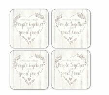 Cooksmart Food for Thought Set of 4 Coasters