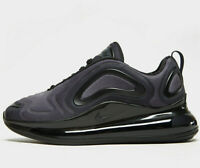 Nike Air Max 720 GS ® ( UK Size 3 EU 35.5 ) Triple Black / Anthracite Latest NEW