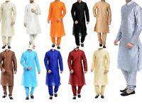 Silk Kurta Pyjama Set For Men's Dupion Traditional Festival Season Special