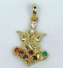 Sitting Ganesha Navratan 9 (Nine) Astrological Stone Customized Pendant Jewelry