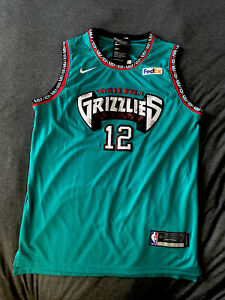 Brand New Ja Morant Memphis Grizzlies Teal Throwback Jersey With Tags Men's L