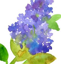 Lilacs Greeting Card Set Of Four Watercolor Cornflowers Lily of the Valley